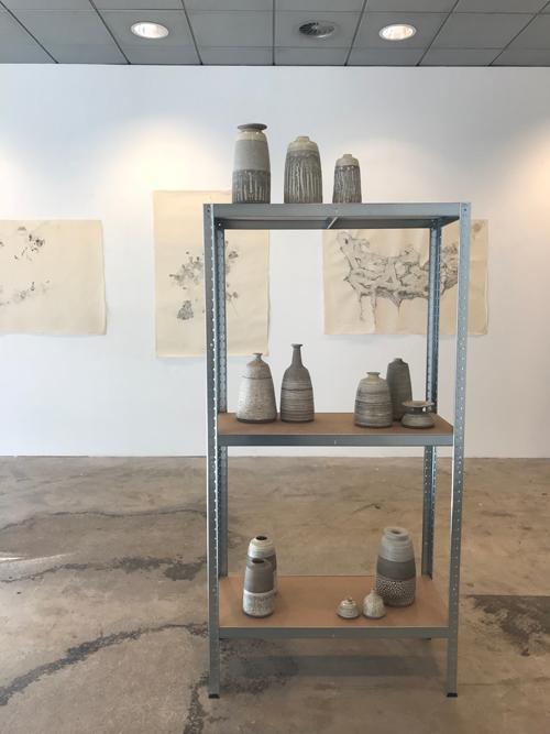 Exhibition Nl=Us, art gallery, ceramics, Gray